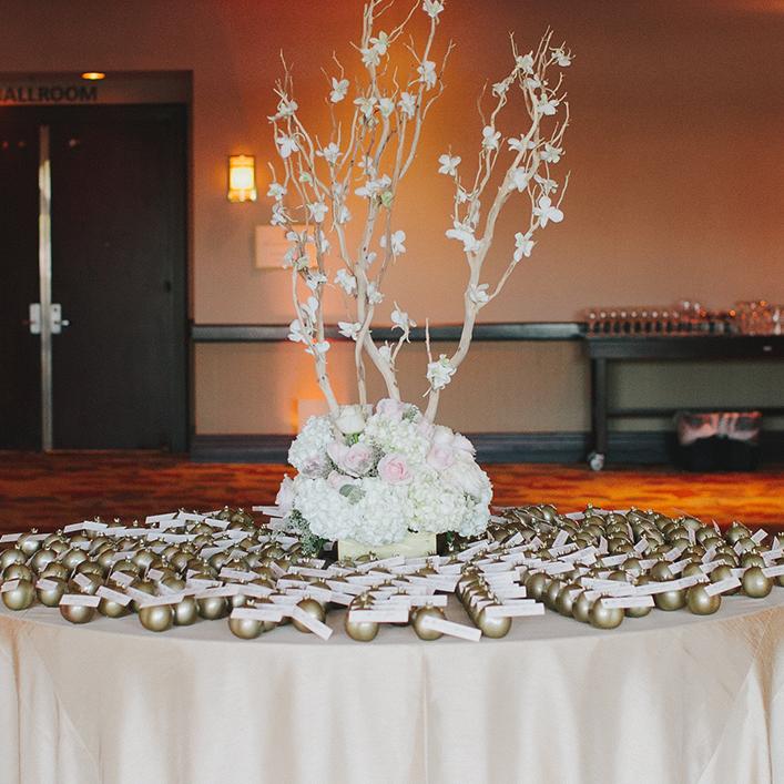 Sweet + Crafty   Wedding Pomegranate Escort Card Display