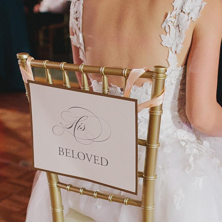 Sweet + Crafty   Wedding Chair Back Signs