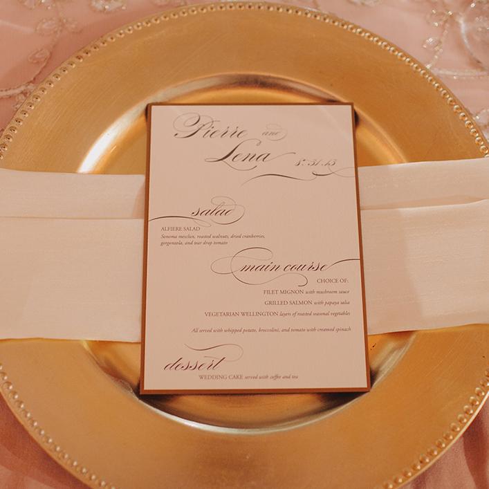 Sweet + Crafty   Wedding Menu Design