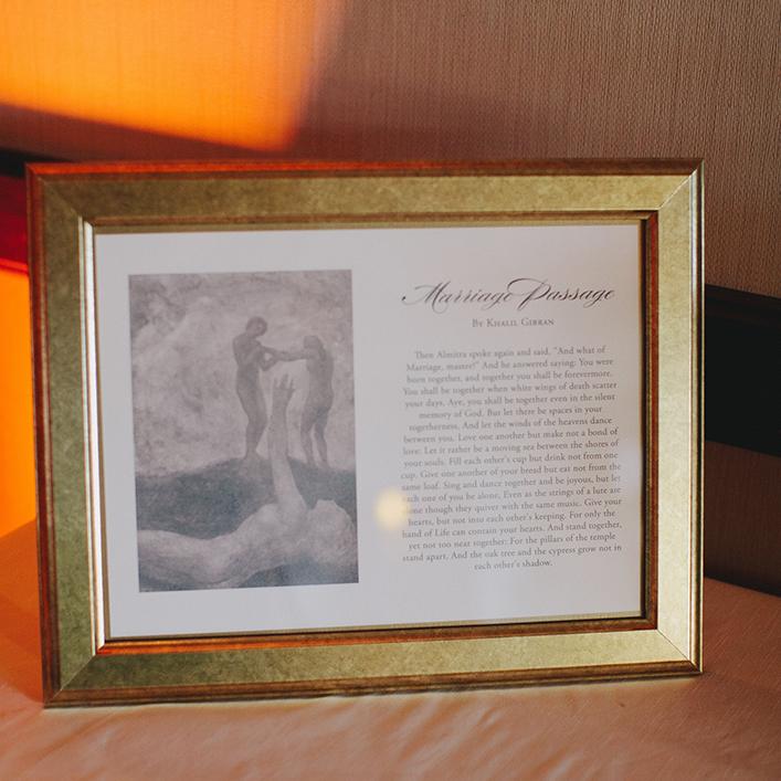 Sweet + Crafty   Wedding Framed Book Passage