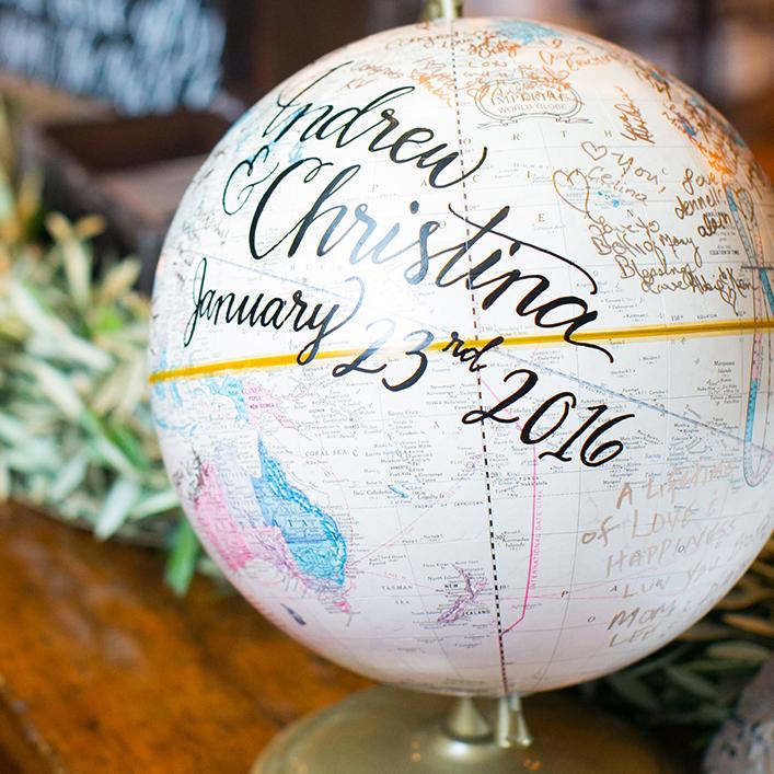 Sweet + Crafty   Wedding Globe Sign