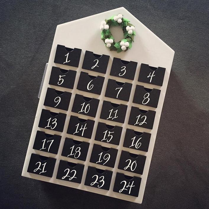 Copy of Sweet + Crafty | Advent Calendar Calligraphy Dates