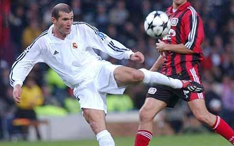 Zidane as a Real Madrid player (Russell Cheyne/The Telegraph).