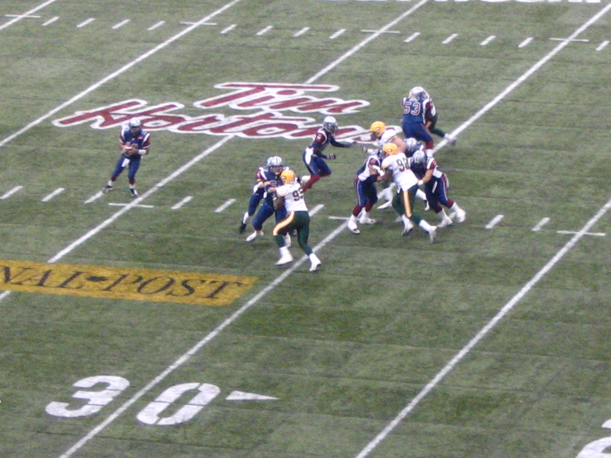 The 2005 Grey Cup, where Ray and the Eskimos defeated Calvillo and the Alouettes.