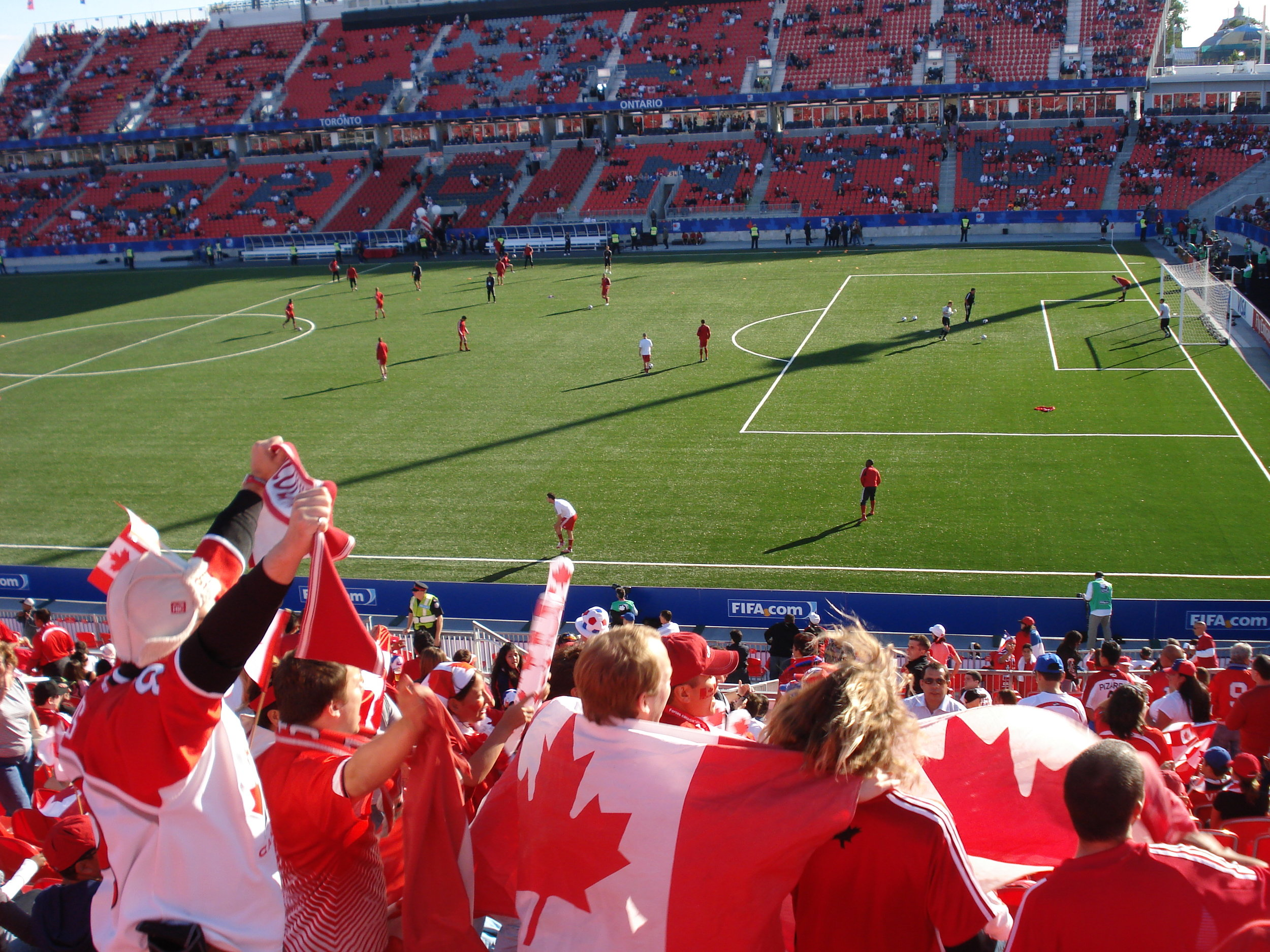 Canadian Soccer fans at BMO field.