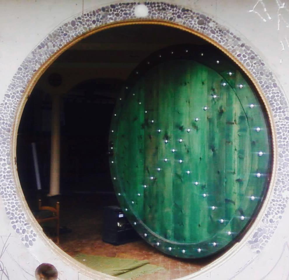 Our hobbit door for our hobbit hole.