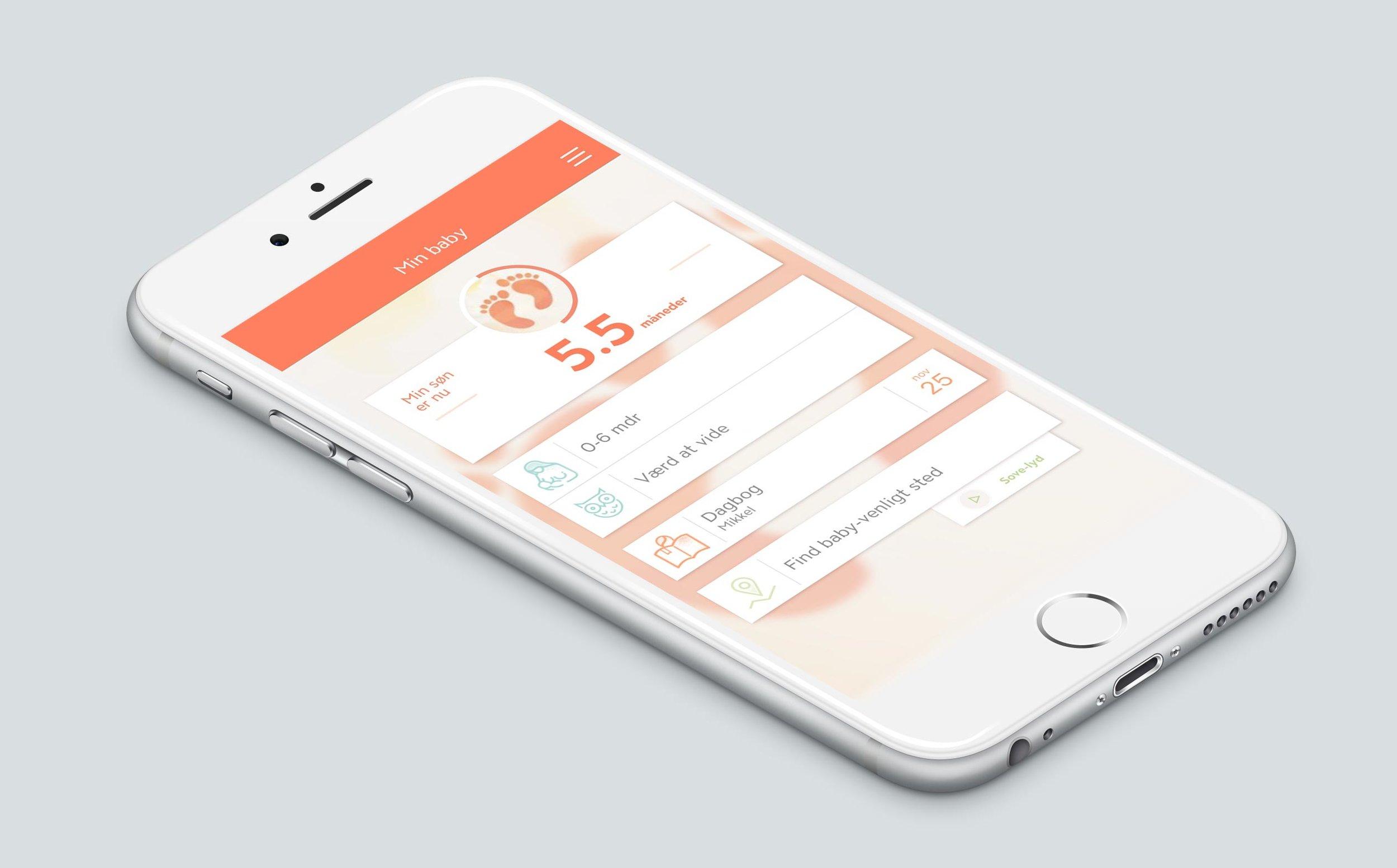 Min baby app følger barnets udvikling