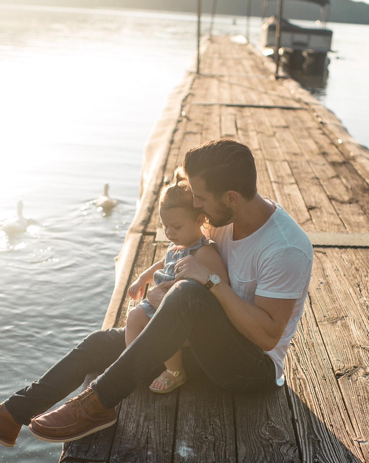 Far med barn