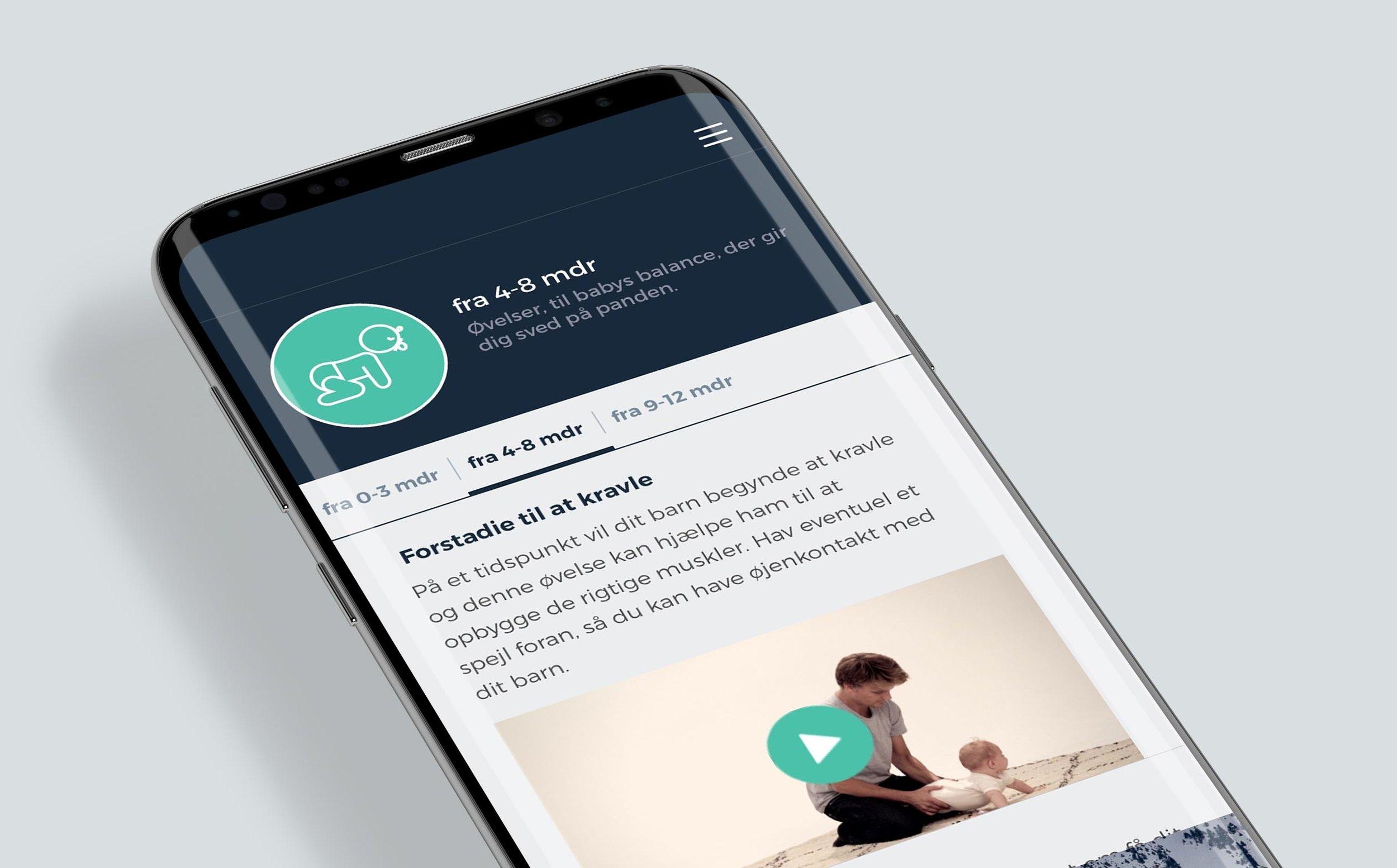 Far app om barnets udvikling