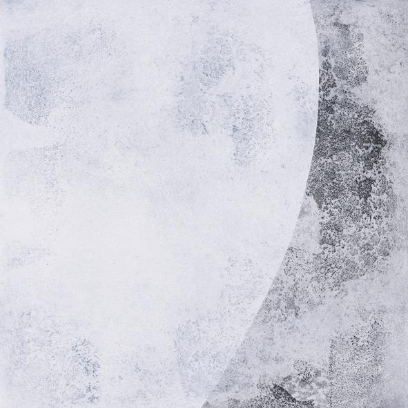 Honeysuckle Interference/ SE +NW,  intaglio print from corroded steel plate, 2018, image size 60 x60cm, sheet size 70 x 70cm