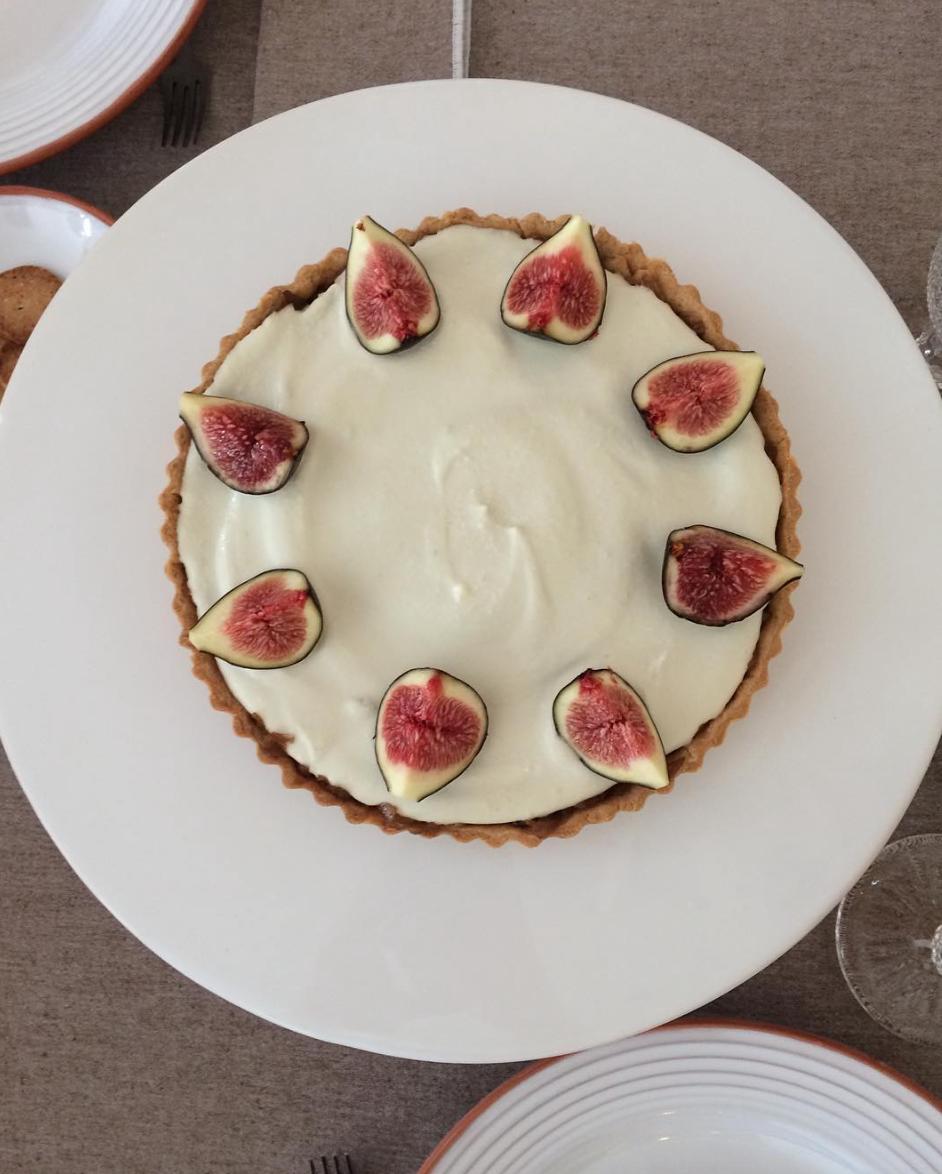 tarte de figos e mascarpone