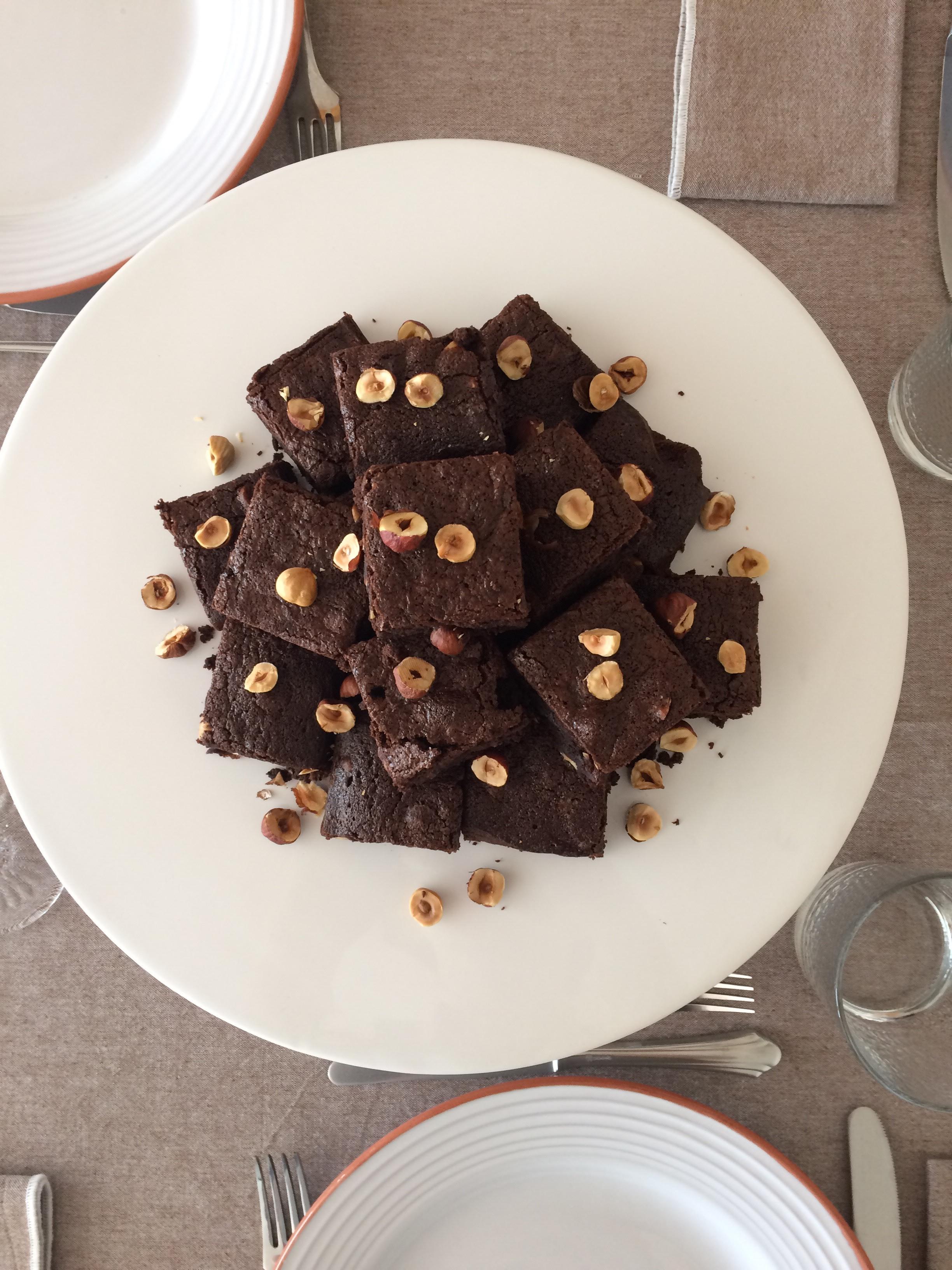 Brownies de Chocolate e Avelã
