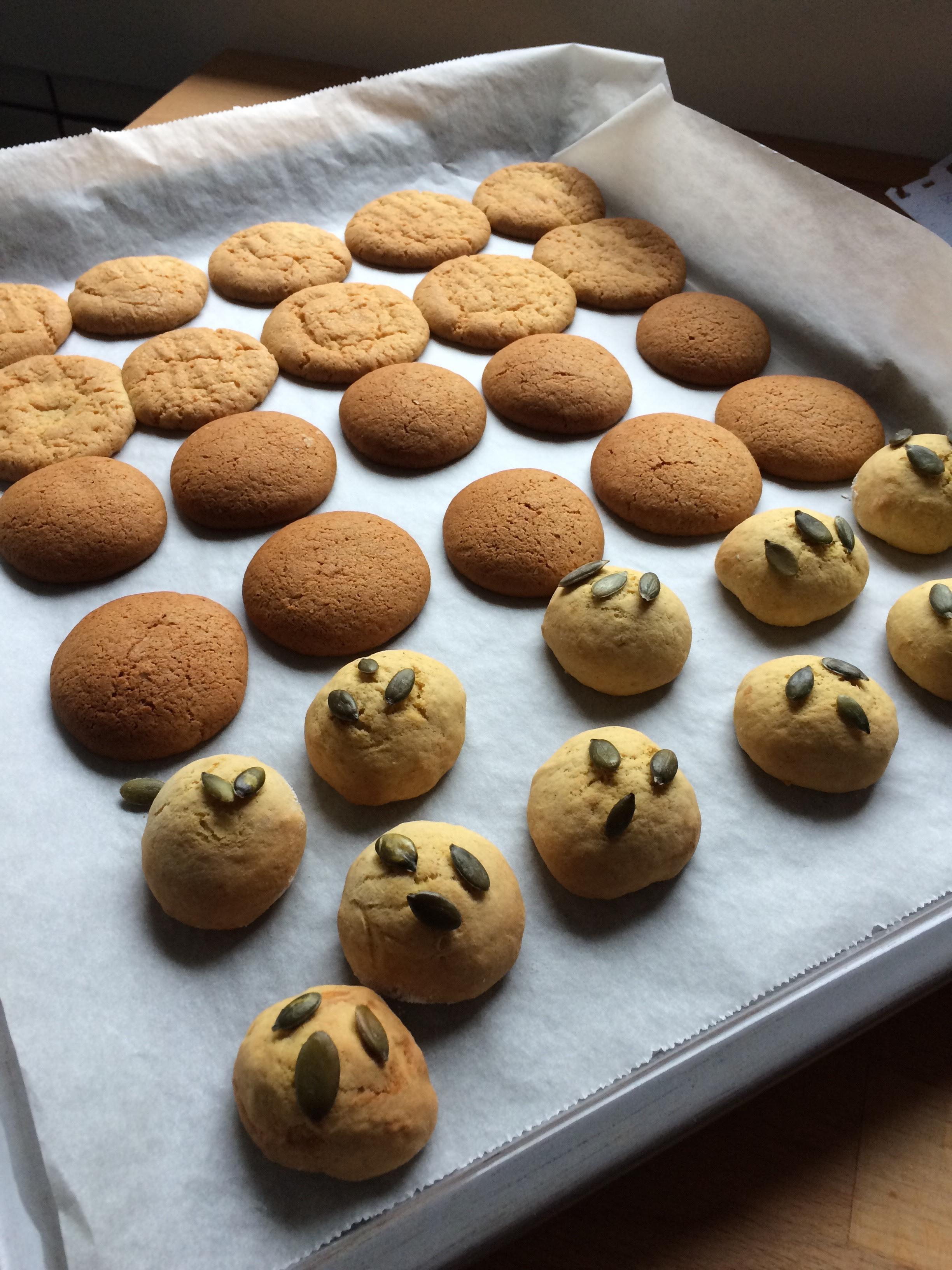 Bolachas de Limão, Biscoitos de Abóbora, Biscoitos de Especiarias