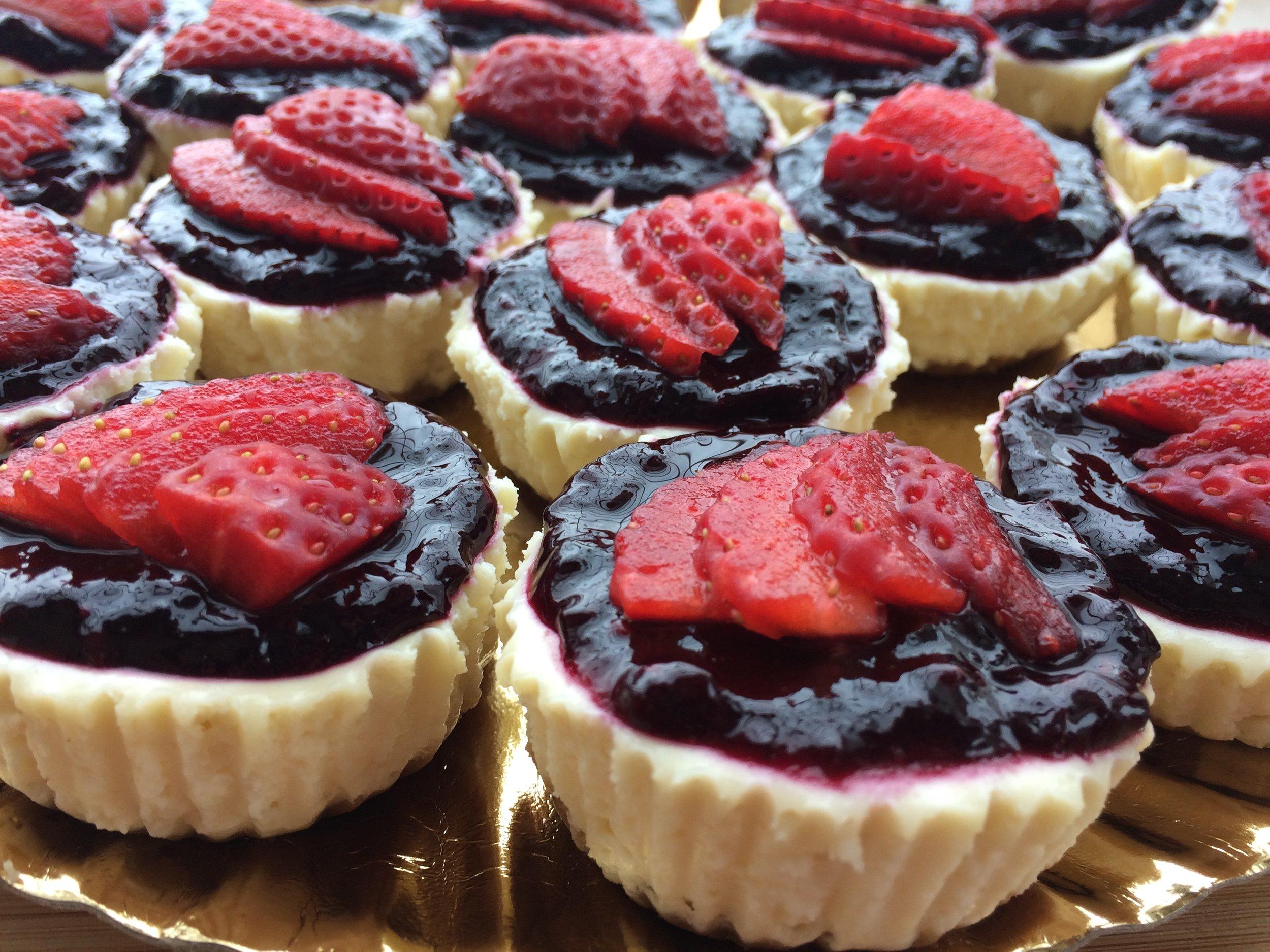 Cheesecakes NYS de frutos vermelhos