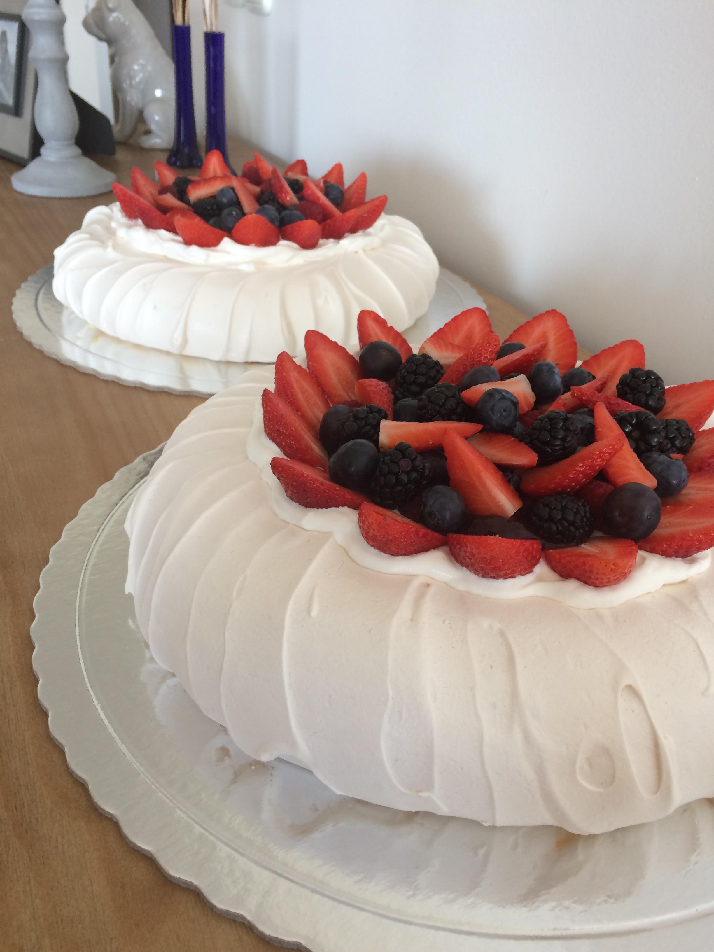 Pavlova de frutos vermelhos