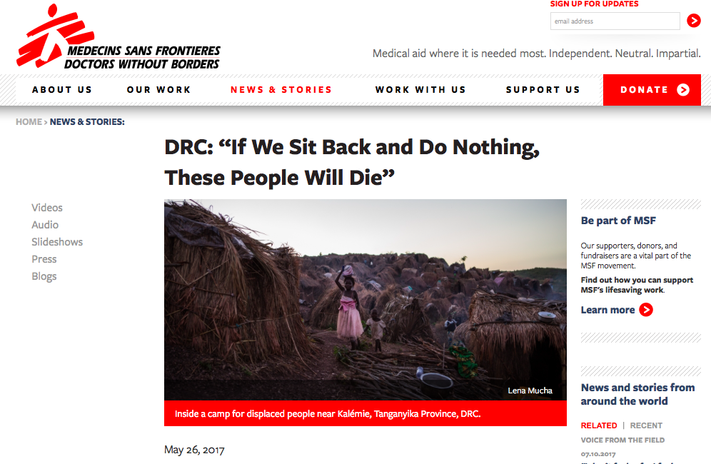 Doctors Without Borders, May 2017