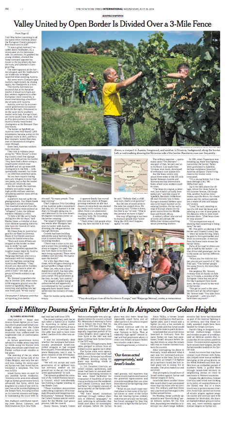 The New York Times, 25.07.2018