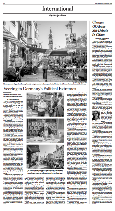 The New York Times, 13.10.2018