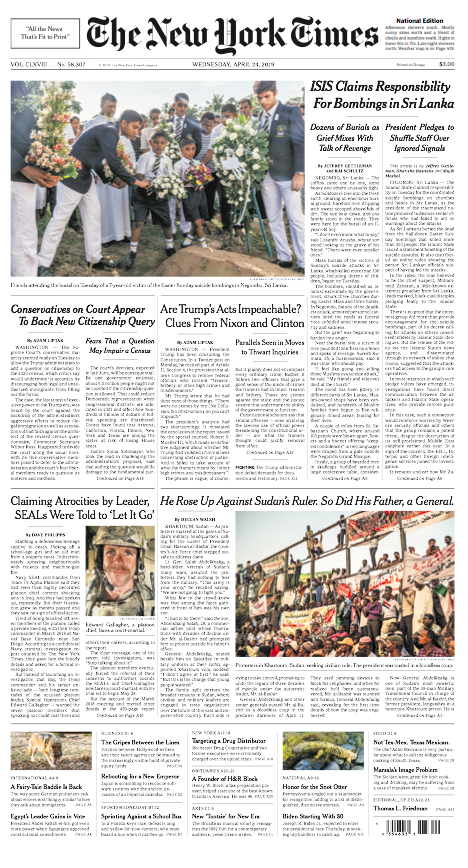 The New York Times, 24.04.2019