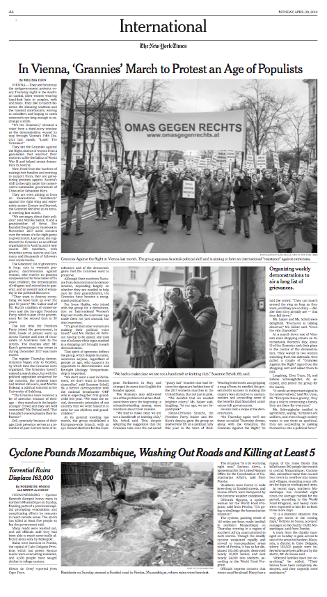 The New York Times, 29.04.2019