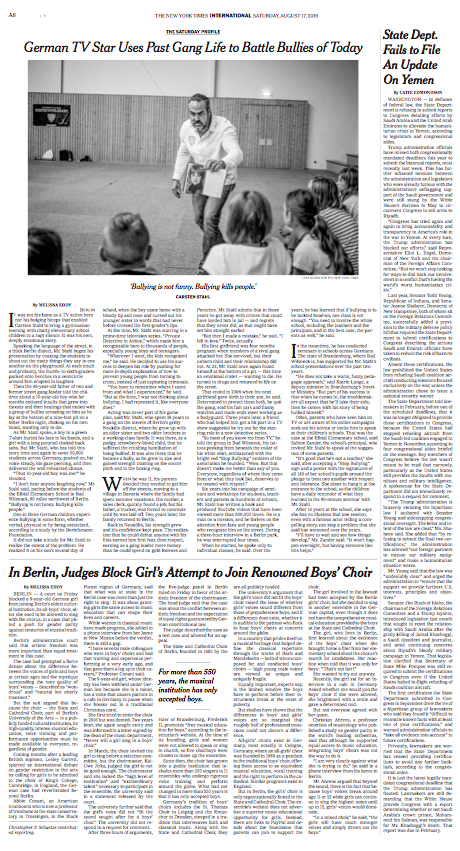 The New York Times, 17.08.2019