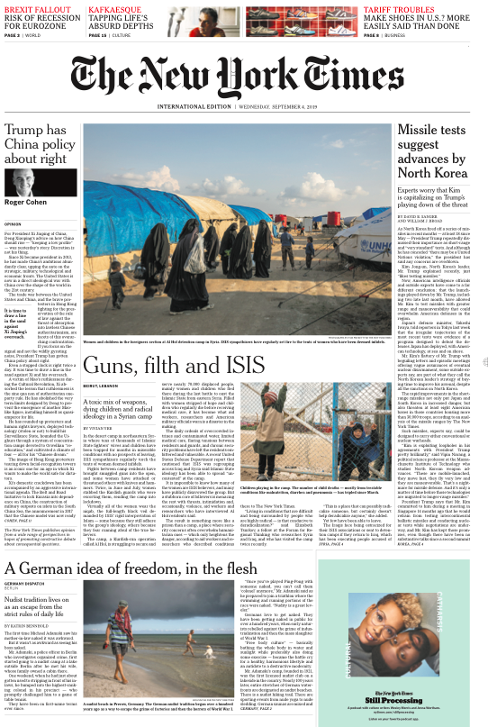The New York Times, 04.09.2019