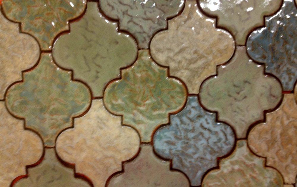Neutral Arabesque Tile Pattern