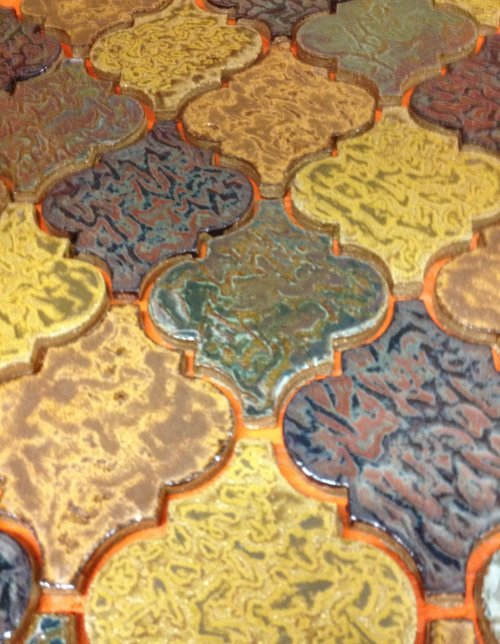 Colorful Arabesque Tile Pattern