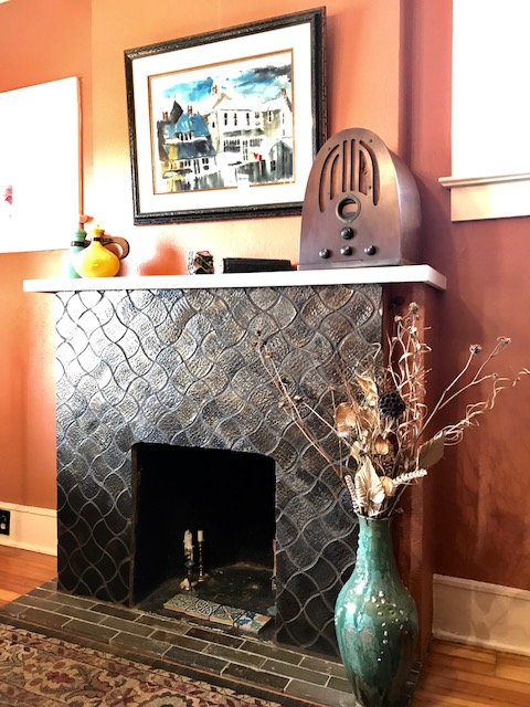 Handmade Tile Fireplace