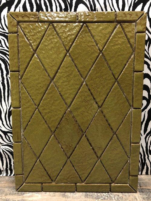 Olive Diamond Tile Design