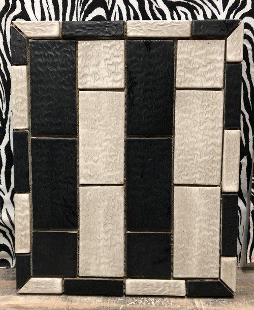 Black and White Subway Tile Pattern