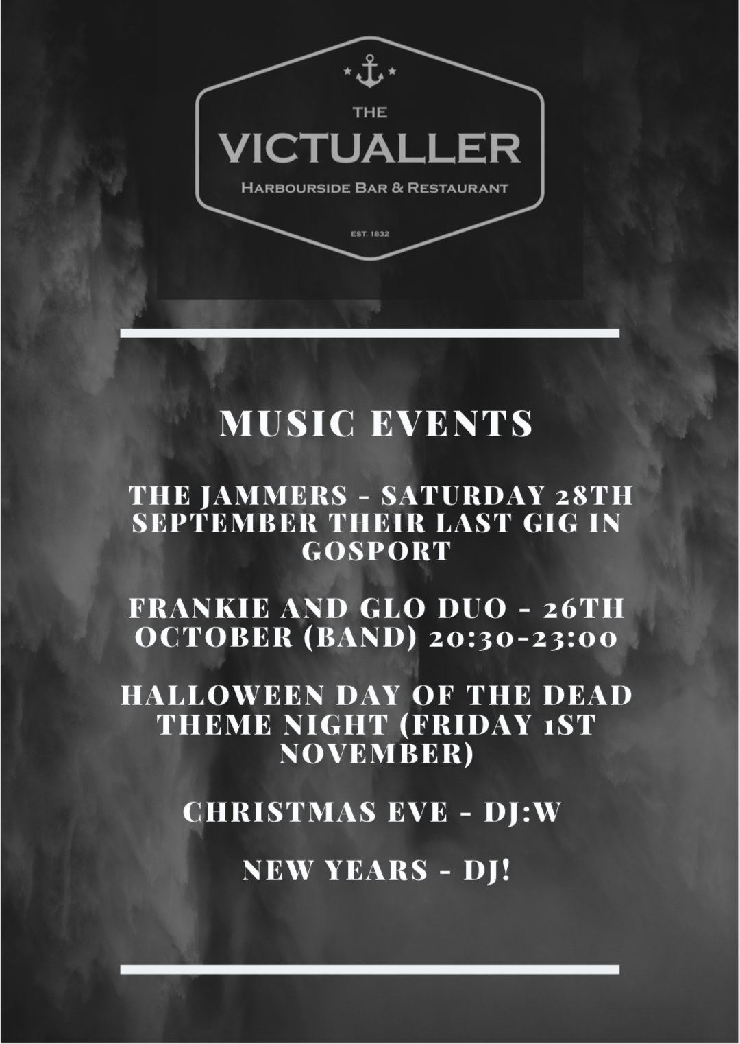MUSIC AT THE VICTUALLER - We have a whole host of music events coming up …