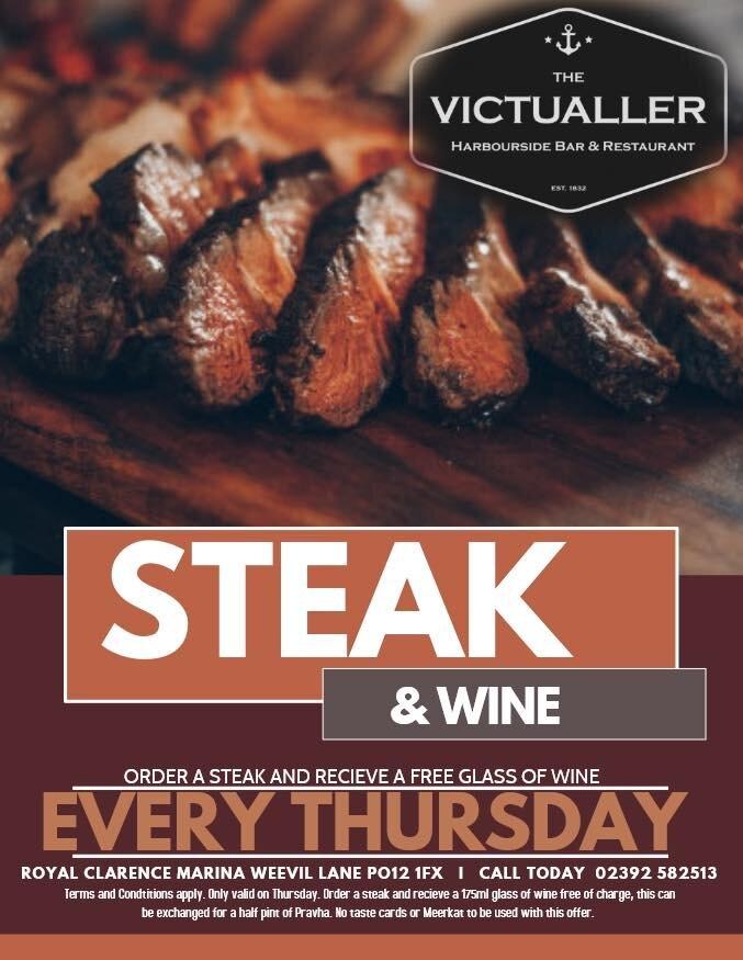 steak & wine night thursday's - Love steak & wine the perfect date night experience …..