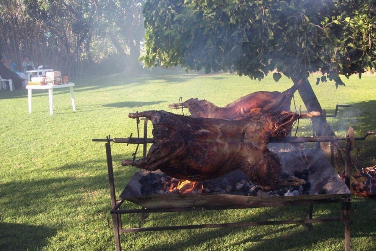 Awesome Spit Braai for our guests at Chelaya Country Lodge