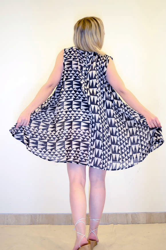 Geometric Cape Dress  II Code   :  YCpChdc9