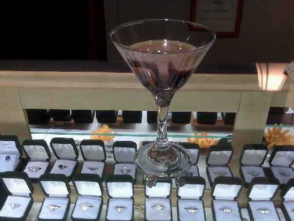 Chocolate Martini and Diamonds? Can it get any better?