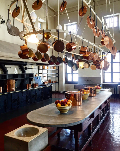 During a winter visit to the Breakers, one of the mansions in Newport, RI, I was inspired to find out a bit more about cooking with copper pots. A few notes on the benefits of cooking with copper can be found on my blog.