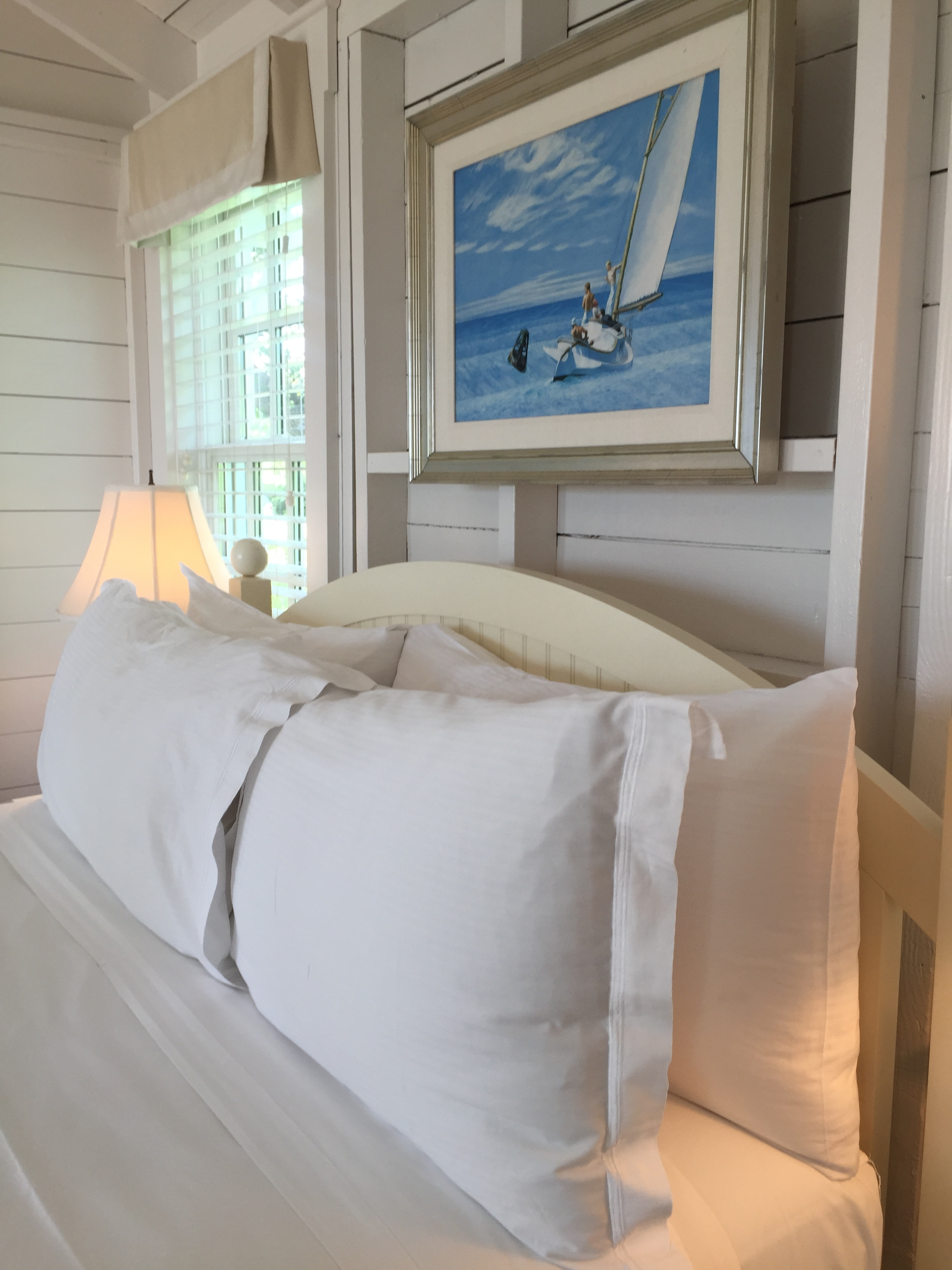 Ahhhh a bed dressed in crisp white sheets was already calling my name.