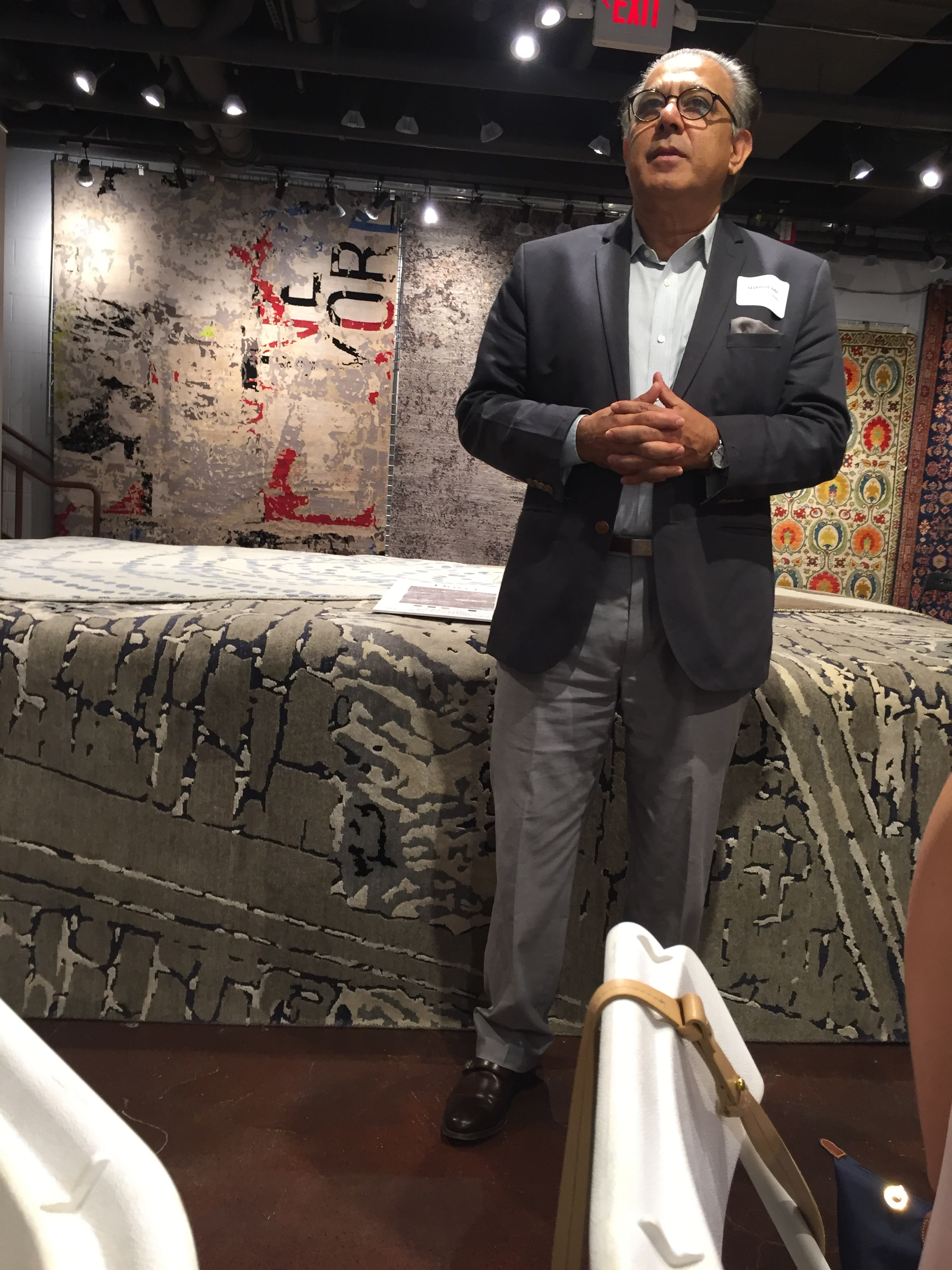 Mahmud Jafri, Owner of Dover Rugs hosted the event in his Boston Store.