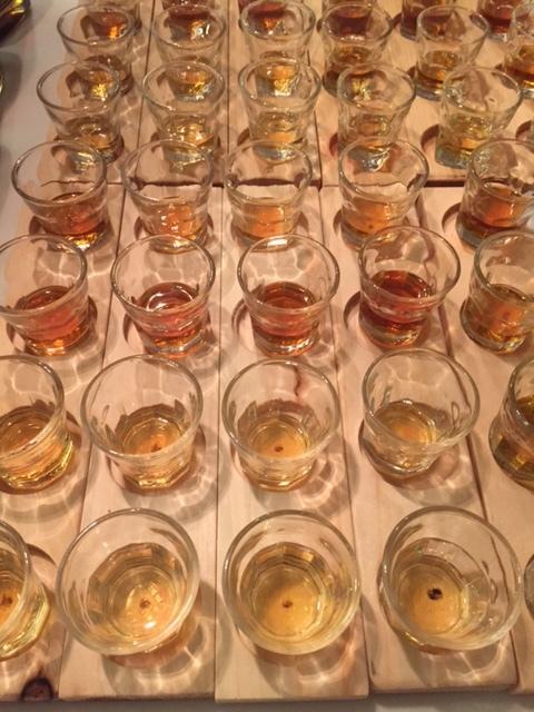 Flights of Bourbon were being served.