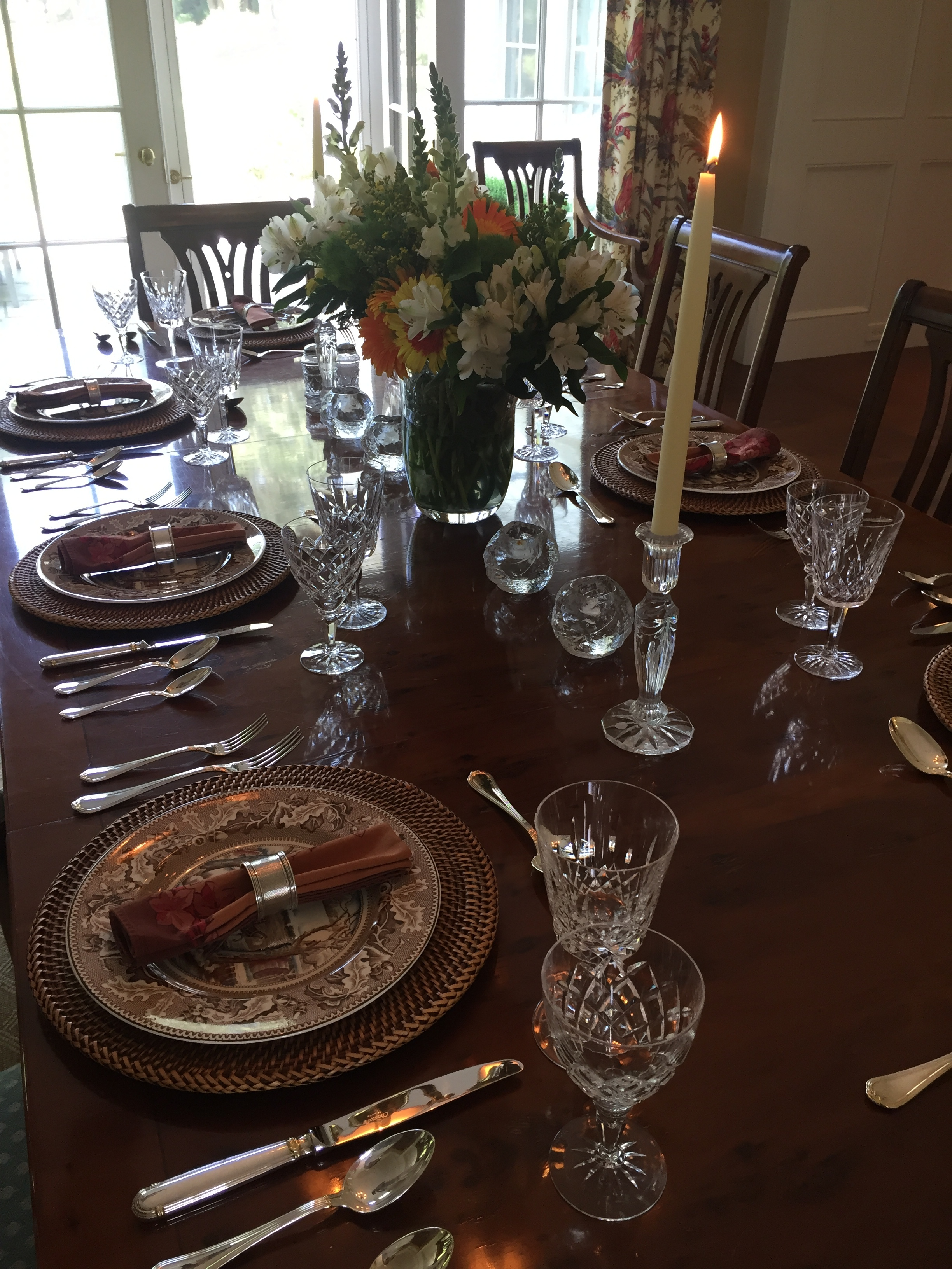 a table set for entertaining