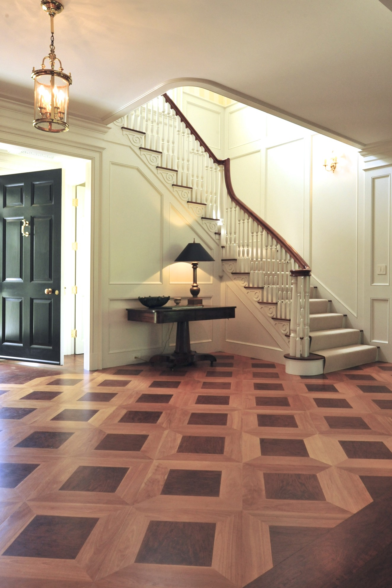 the floors were designed to replicate those in Thomas Jefferson's Parlor in monticello - Photo: cheryle St Onge