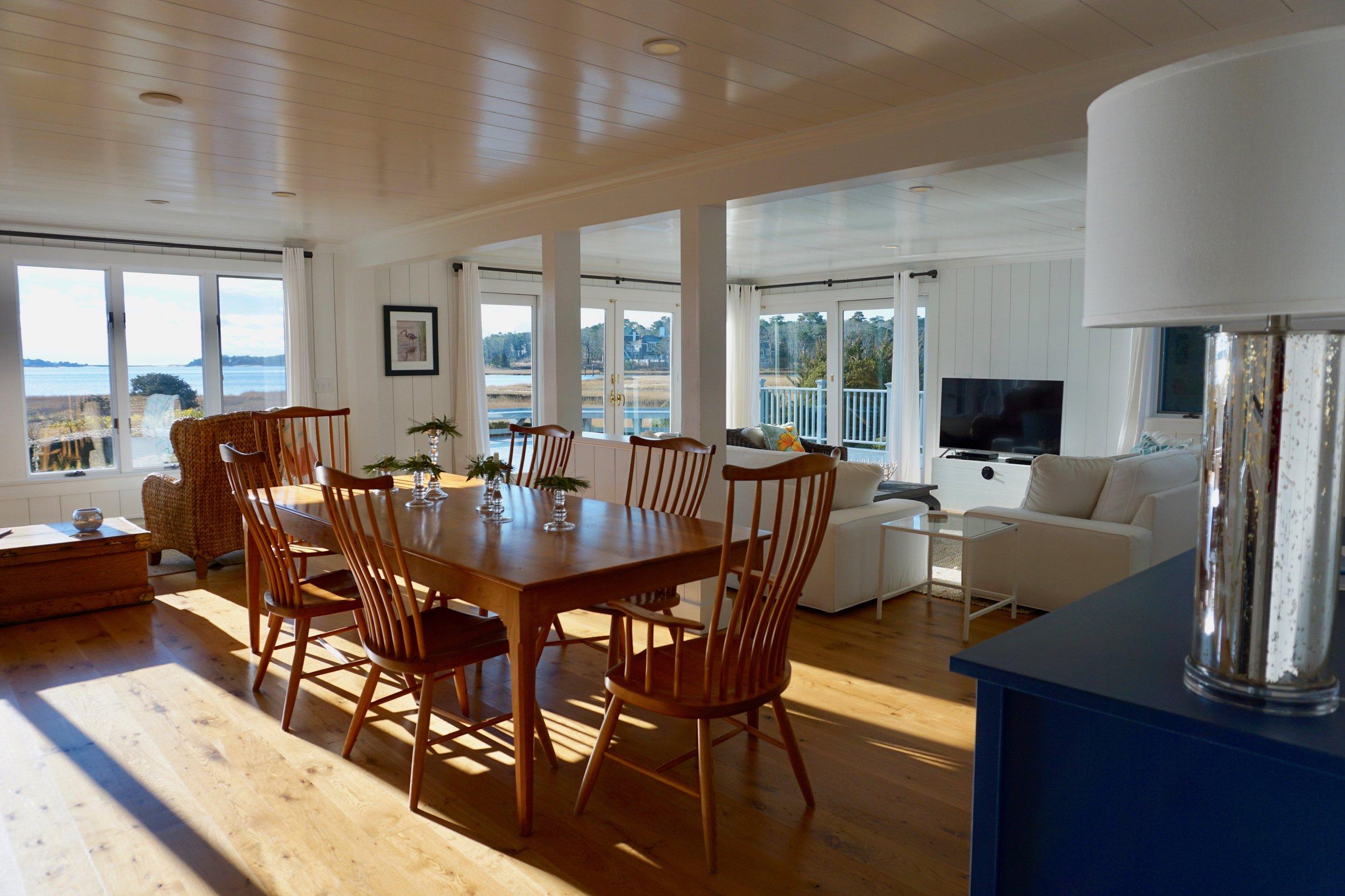 coastal rental cape cod living room