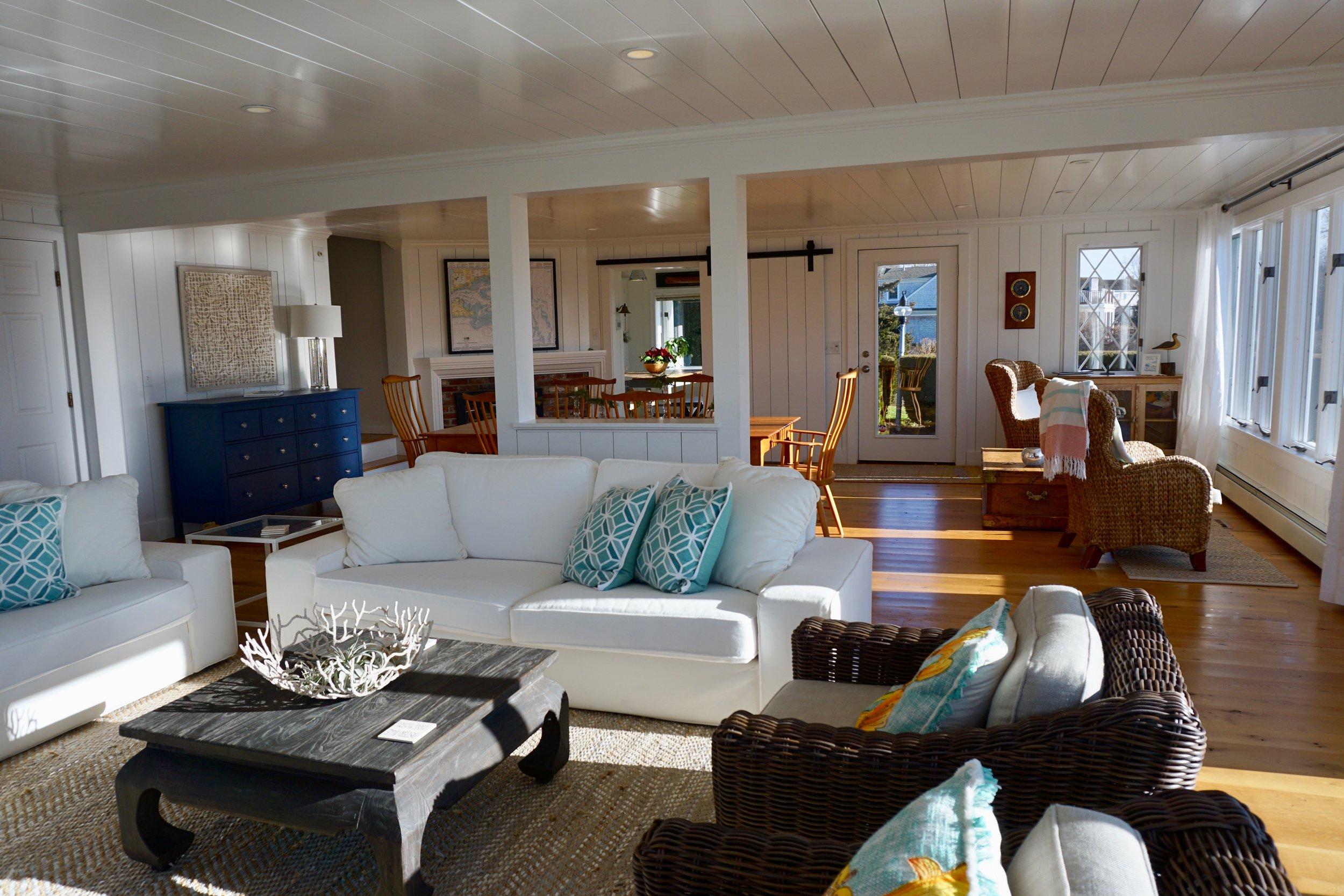 coastal living room cape cod rental