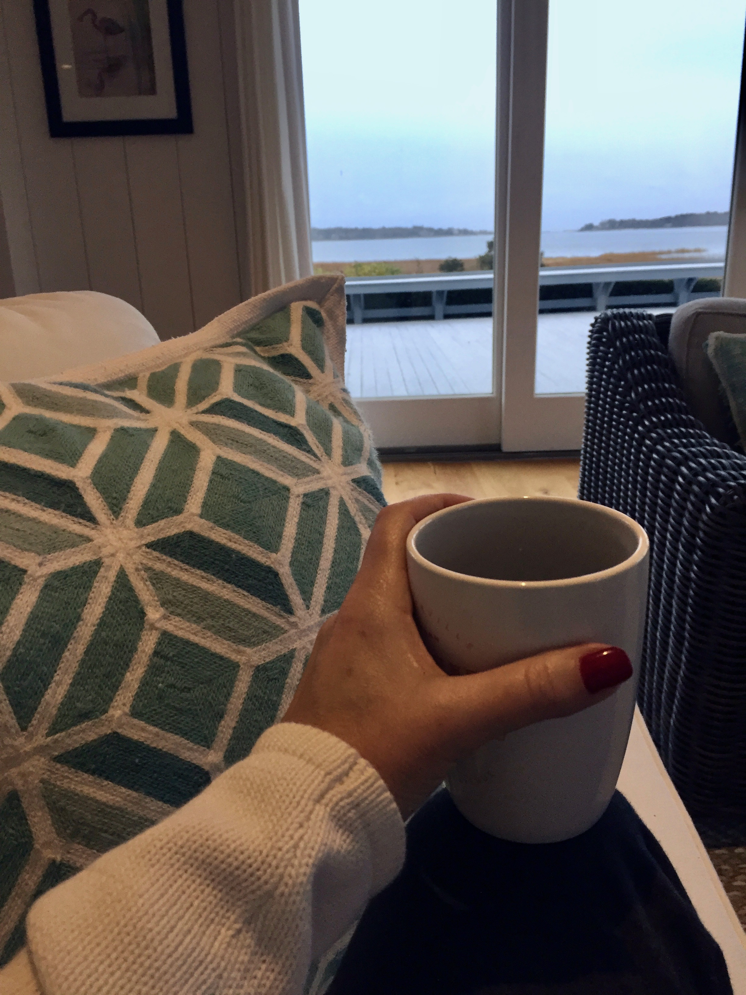 early morning coffee on cape cod New England