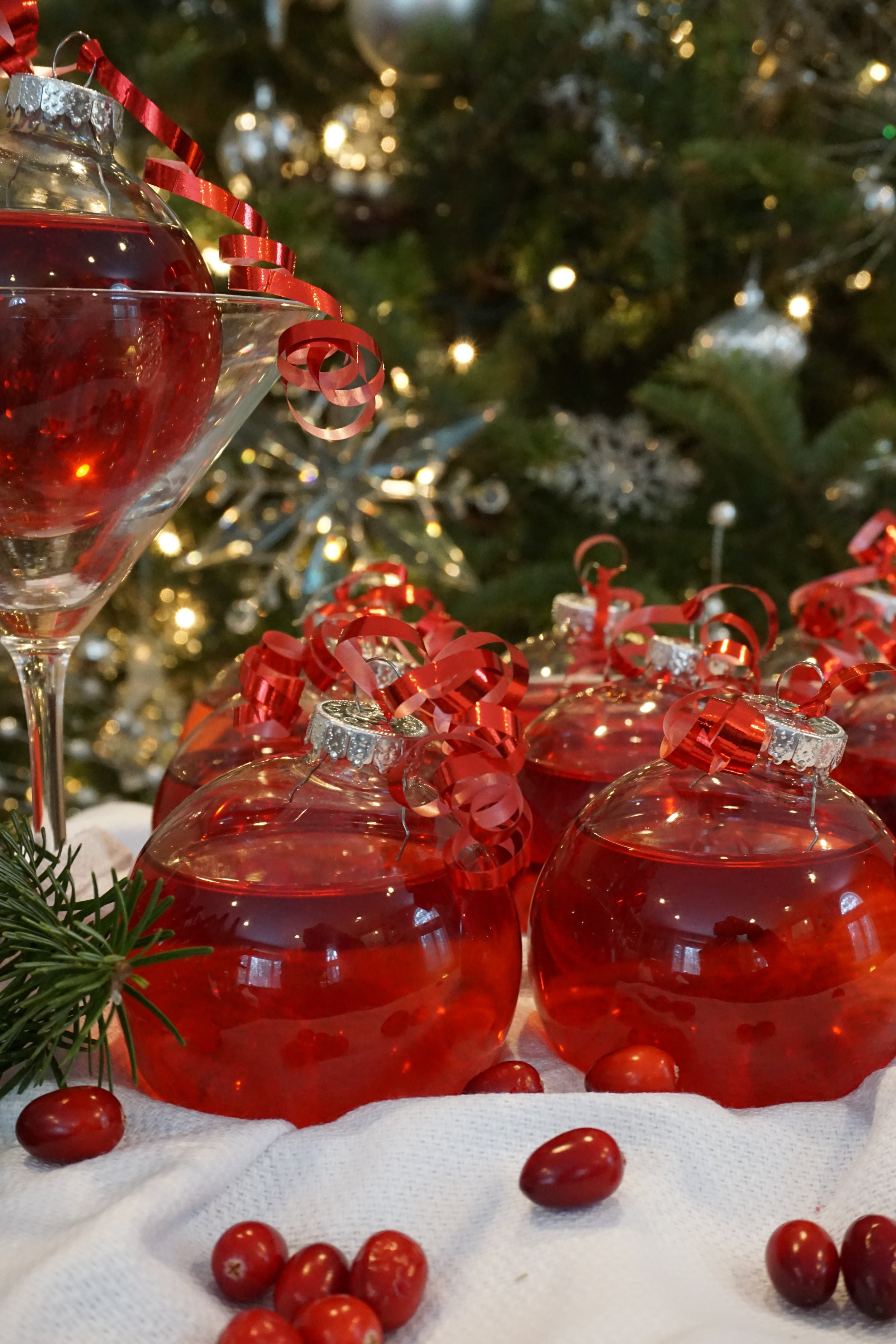 Christmas ornaments with wine charm