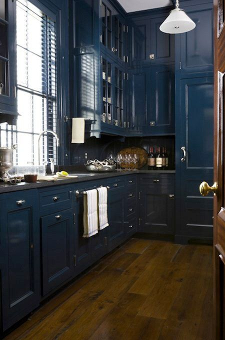 navy blue kitchen cabinets dark wood floor .jpg
