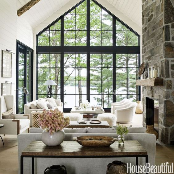floor to ceiling window black muttons mullions