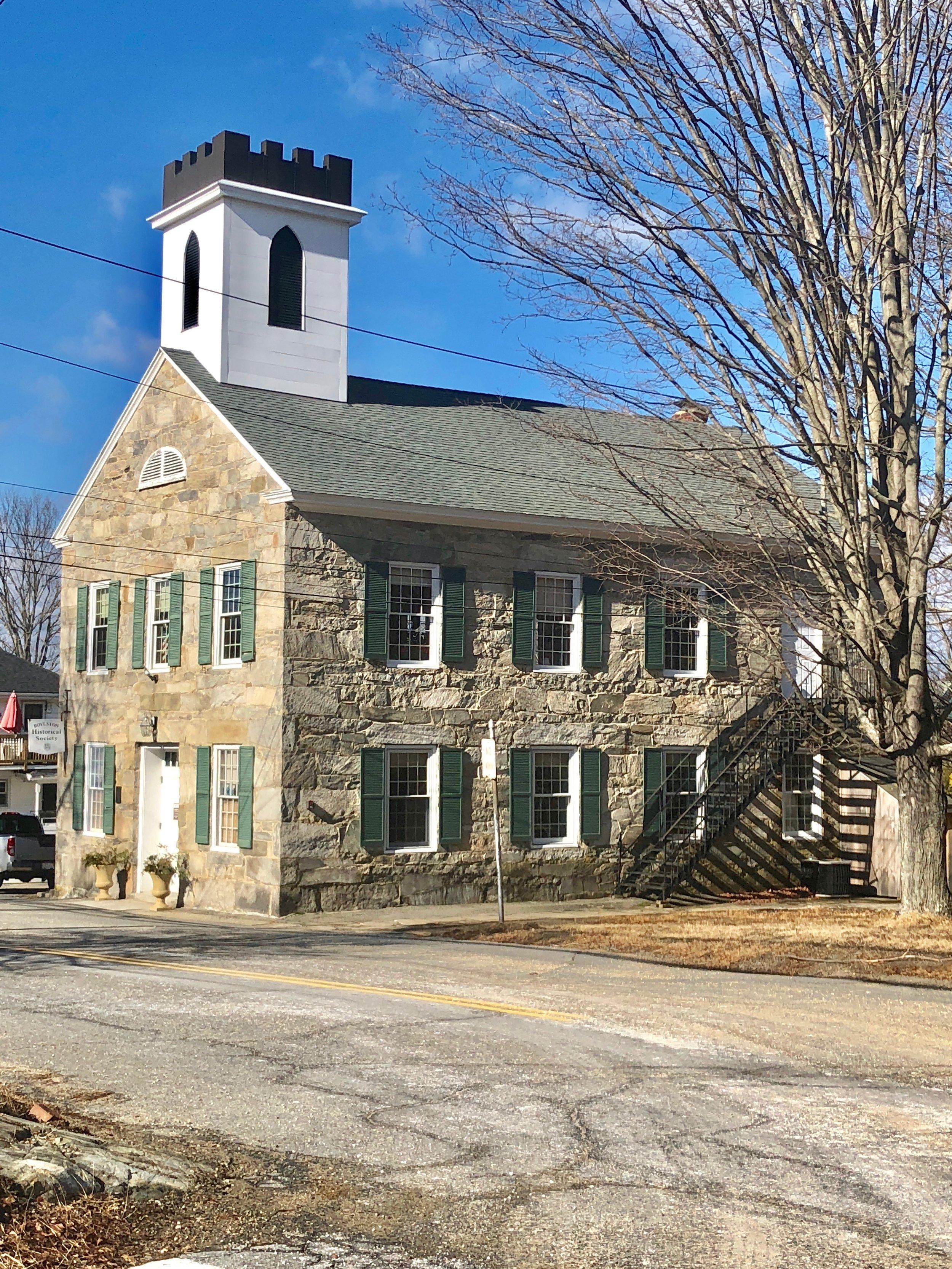 Bolton Massachusetts historic stone building New England