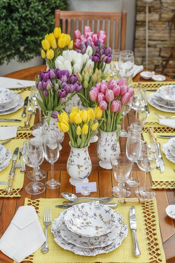 tulips as centerpiece .jpg
